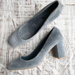 Zara velvet block heels sz 40